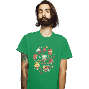 Shirts T-Shirts, Unisex / Small / Irish Green Tarantula Island