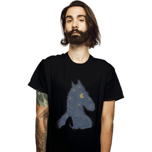 Shirts T-Shirts, Unisex / Small / Black Hollywoo Starry Night