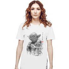 Load image into Gallery viewer, Shirts T-Shirts, Unisex / Small / White Old And Young Sumi-e