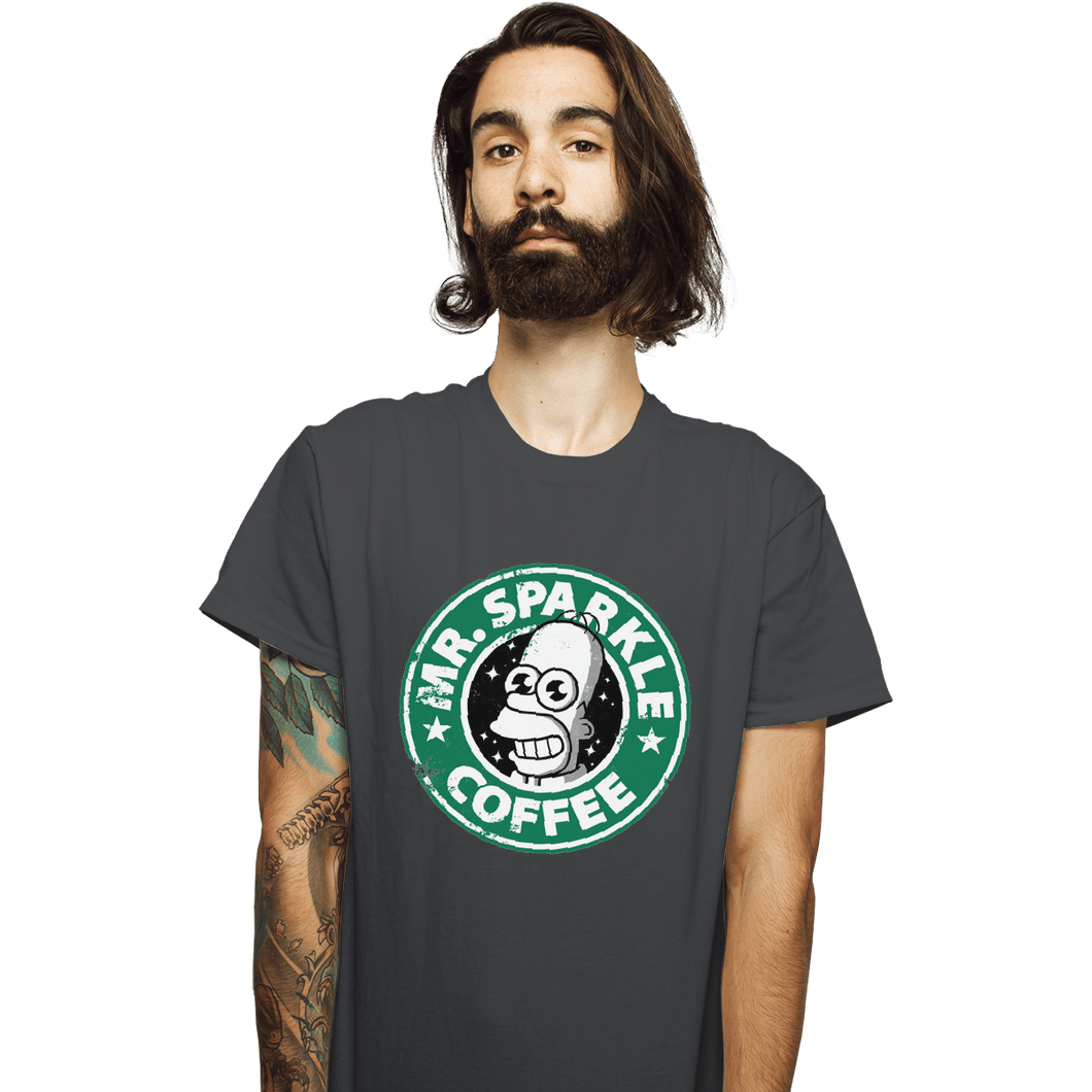 Shirts T-Shirts, Unisex / Small / Charcoal Mr. Sparkle Coffee