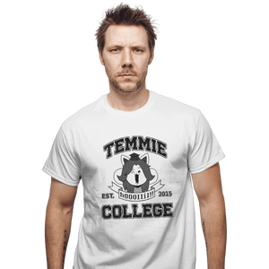 Shirts T-Shirts, Unisex / Small / White Temmie College