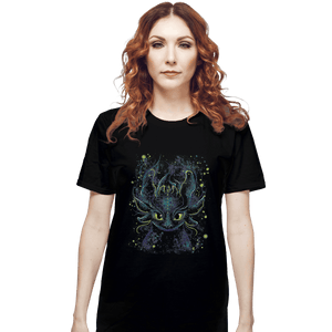 Shirts T-Shirts, Unisex / Small / Black Fireflies