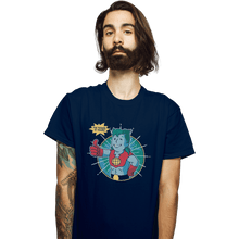 Load image into Gallery viewer, Shirts T-Shirts, Unisex / Small / Navy Planet Boy