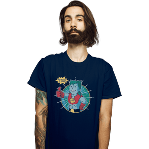 Shirts T-Shirts, Unisex / Small / Navy Planet Boy