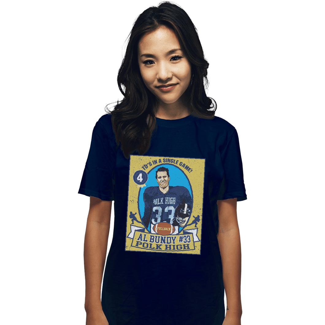 Shirts T-Shirts, Unisex / Small / Navy Al Bundy Trading Card