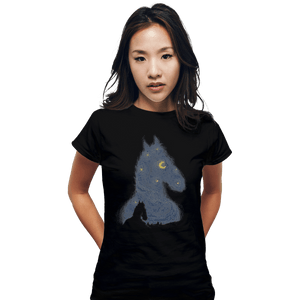 Shirts Fitted Shirts, Woman / Small / Black Hollywoo Starry Night