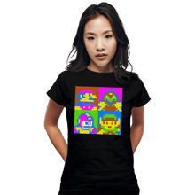 Load image into Gallery viewer, Shirts Fitted Shirts, Woman / Small / Black Pop NES