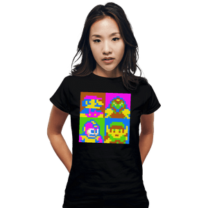 Shirts Fitted Shirts, Woman / Small / Black Pop NES