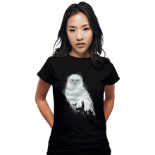 Load image into Gallery viewer, Shirts Fitted Shirts, Woman / Small / Black Magical Owl