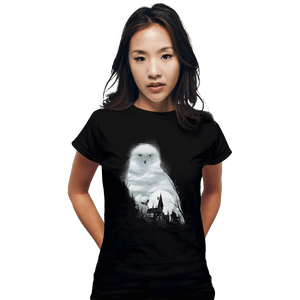 Shirts Fitted Shirts, Woman / Small / Black Magical Owl