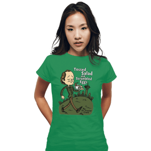 Shirts Fitted Shirts, Woman / Small / Irish Green Tossed Salad And Scrambled Eggs
