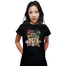 Load image into Gallery viewer, Shirts Fitted Shirts, Woman / Small / Black Mushroom Rangers