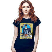Load image into Gallery viewer, Shirts Fitted Shirts, Woman / Small / Navy Al Bundy Trading Card