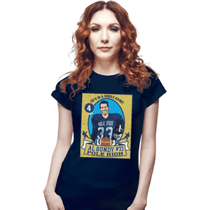 Shirts Fitted Shirts, Woman / Small / Navy Al Bundy Trading Card