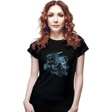 Load image into Gallery viewer, Shirts Fitted Shirts, Woman / Small / Black Abysswalker