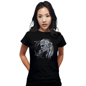Shirts Fitted Shirts, Woman / Small / Black Monster Slayer