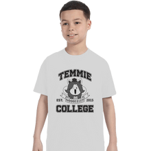 Load image into Gallery viewer, Shirts T-Shirts, Youth / Small / White Temmie College