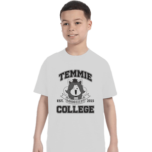Shirts T-Shirts, Youth / Small / White Temmie College
