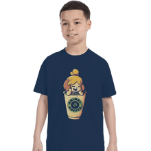 Load image into Gallery viewer, Shirts T-Shirts, Youth / Small / Navy Animal Coffee