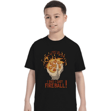 Load image into Gallery viewer, Shirts T-Shirts, Youth / XL / Black I Cast Fireball
