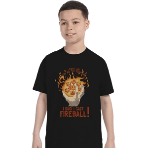 Shirts T-Shirts, Youth / XL / Black I Cast Fireball