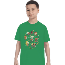 Load image into Gallery viewer, Shirts T-Shirts, Youth / XL / Irish Green Tarantula Island