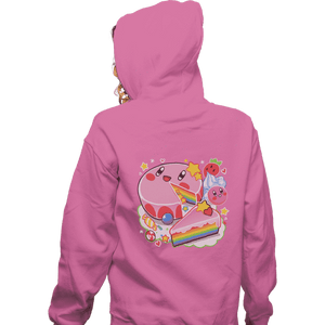 Daily_Deal_Shirts Zippered Hoodies, Unisex / Small / Red Kirby Cake