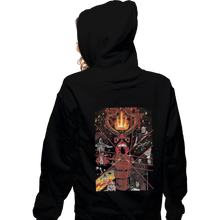 Load image into Gallery viewer, Shirts Zippered Hoodies, Unisex / Small / Black Hand Of Doom