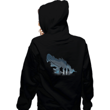 Load image into Gallery viewer, Shirts Zippered Hoodies, Unisex / Small / Black Lyanna's Feather
