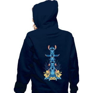 Shirts Pullover Hoodies, Unisex / Small / Navy Alien Mood Totem
