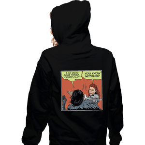 Shirts Zippered Hoodies, Unisex / Small / Black I Do Know Some Things