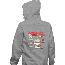 Load image into Gallery viewer, Shirts Zippered Hoodies, Unisex / Small / Sports Grey Dungeons And Cats