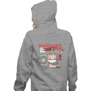 Shirts Zippered Hoodies, Unisex / Small / Sports Grey Dungeons And Cats