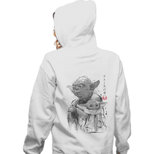 Load image into Gallery viewer, Shirts Pullover Hoodies, Unisex / Small / White Old And Young Sumi-e