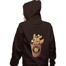 Load image into Gallery viewer, Shirts Zippered Hoodies, Unisex / Small / Dark Chocolate Pika Pika Coffee