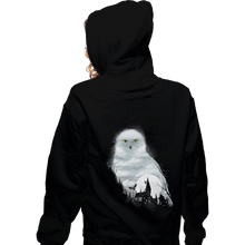 Load image into Gallery viewer, Shirts Zippered Hoodies, Unisex / Small / Black Magical Owl