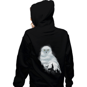 Shirts Zippered Hoodies, Unisex / Small / Black Magical Owl