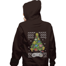 Load image into Gallery viewer, Shirts Zippered Hoodies, Unisex / Small / Dark Chocolate A Classic Gamers Christmas