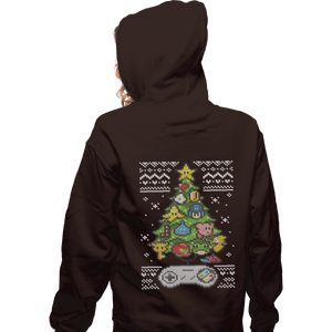 Shirts Zippered Hoodies, Unisex / Small / Dark Chocolate A Classic Gamers Christmas