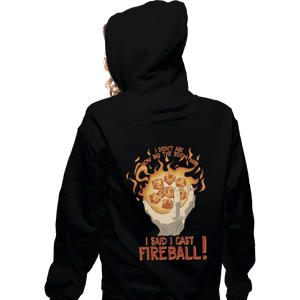 Shirts Pullover Hoodies, Unisex / Small / Black I Cast Fireball