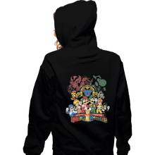 Load image into Gallery viewer, Shirts Zippered Hoodies, Unisex / Small / Black Mushroom Rangers