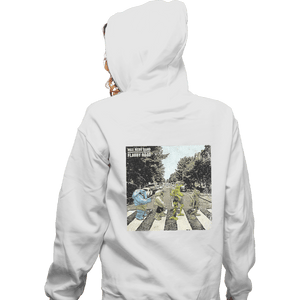 Shirts Zippered Hoodies, Unisex / Small / White Flabby Road