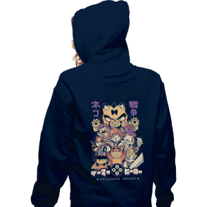 Shirts Zippered Hoodies, Unisex / Small / Navy Childhood Heroes