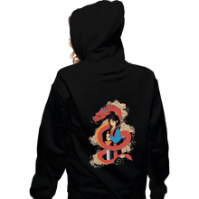 Load image into Gallery viewer, Shirts Pullover Hoodies, Unisex / Small / Black Mulan And The Dragon