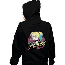 Load image into Gallery viewer, Shirts Zippered Hoodies, Unisex / Small / Black Barbie Quinn
