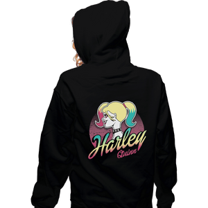 Shirts Zippered Hoodies, Unisex / Small / Black Barbie Quinn