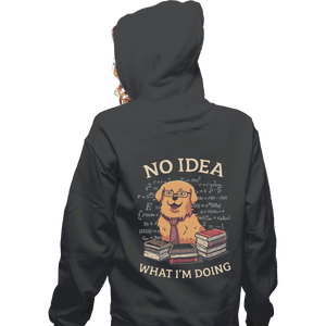 Shirts Zippered Hoodies, Unisex / Small / Dark Heather No Idea