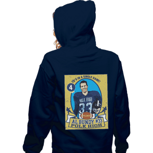 Shirts Zippered Hoodies, Unisex / Small / Navy Al Bundy Trading Card