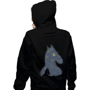 Shirts Zippered Hoodies, Unisex / Small / Black Hollywoo Starry Night