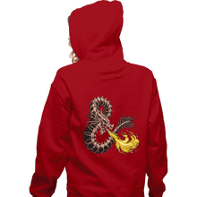 Load image into Gallery viewer, Secret_Shirts Zippered Hoodies, Unisex / Small / Red Bone Dragon Secret Sale